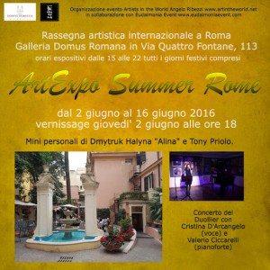 Flyer-fronte-ArtExpo Summer Rome